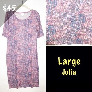 NWT LuLaRoe Large Julia Abstract
